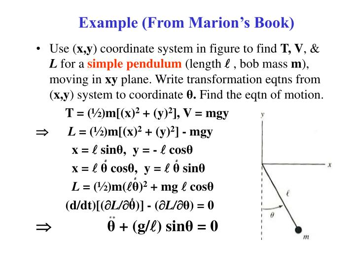 Example from marion s book