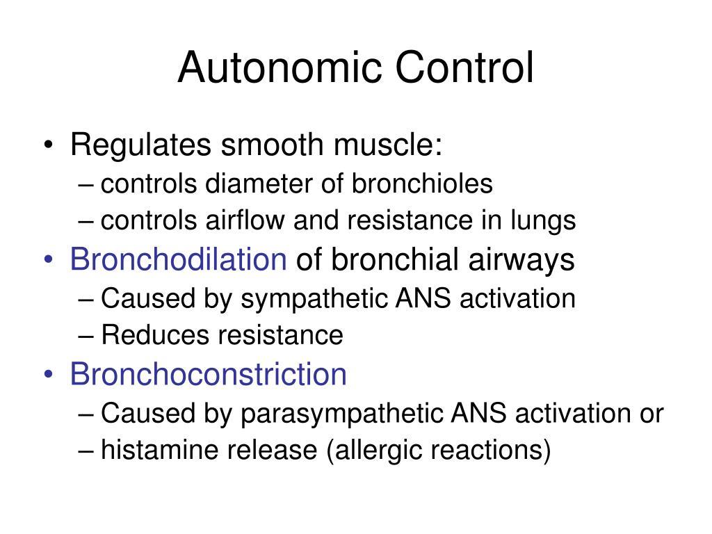 Autonomic Control