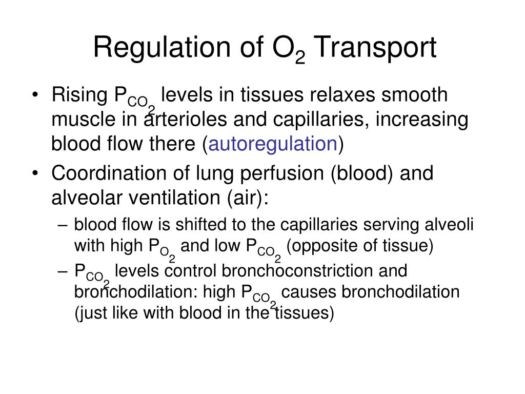 Regulation of O