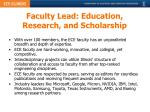 faculty lead education research and scholarship
