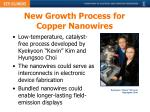 new growth process for copper nanowires