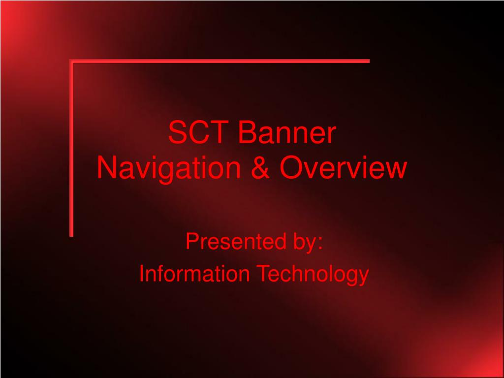 sct banner navigation overview l.