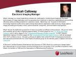 micah calloway electronic imaging manager