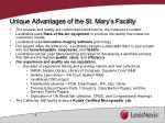 unique advantages of the st mary s facility