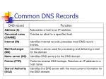 common dns records