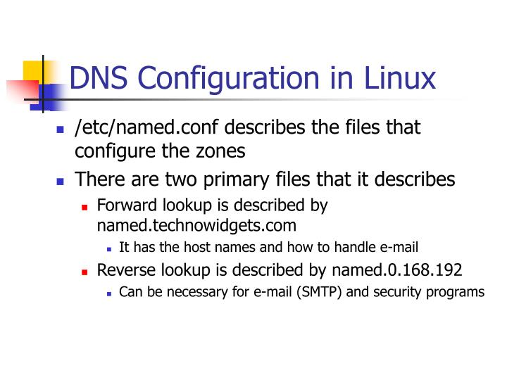 DNS Configuration in Linux