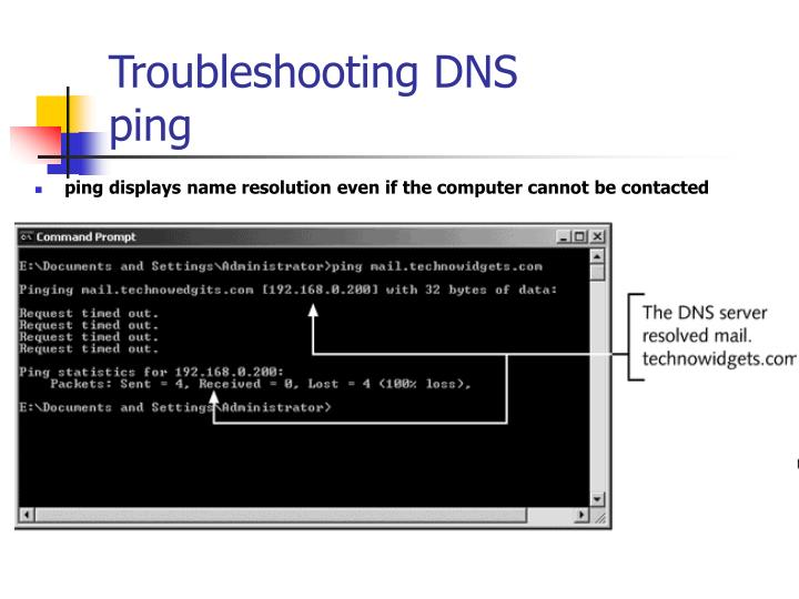 Troubleshooting DNS
