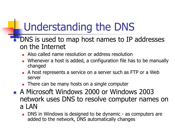 Understanding the dns