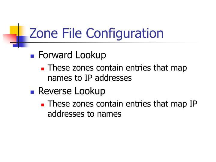 Zone File Configuration