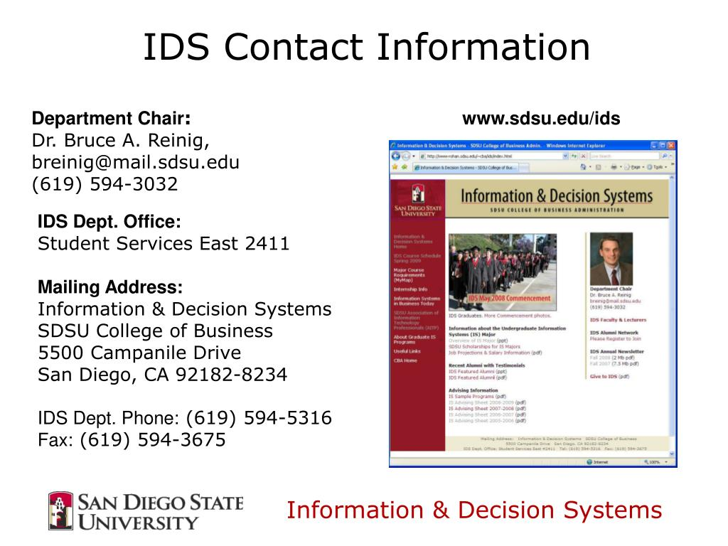 IDS Contact Information
