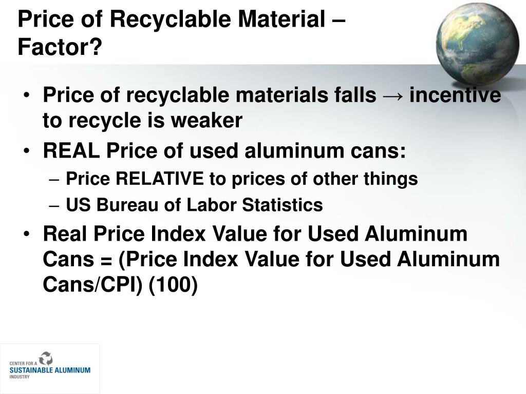 Price of Recyclable Material – Factor?