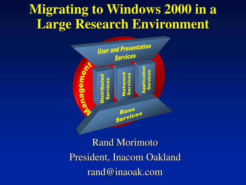 migrating to windows 2000 in a large research environment l.