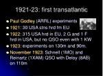 1921 23 first transatlantic
