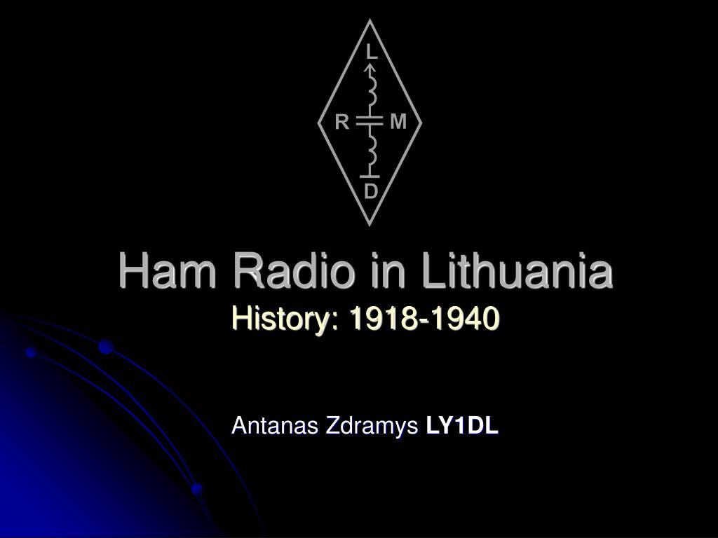 ham radio in lithuania history 1918 1940 l.