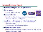 intercollegiate sport
