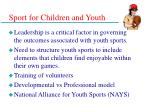 sport for children and youth34