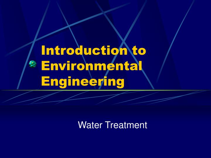 introduction to environmental engineering n.