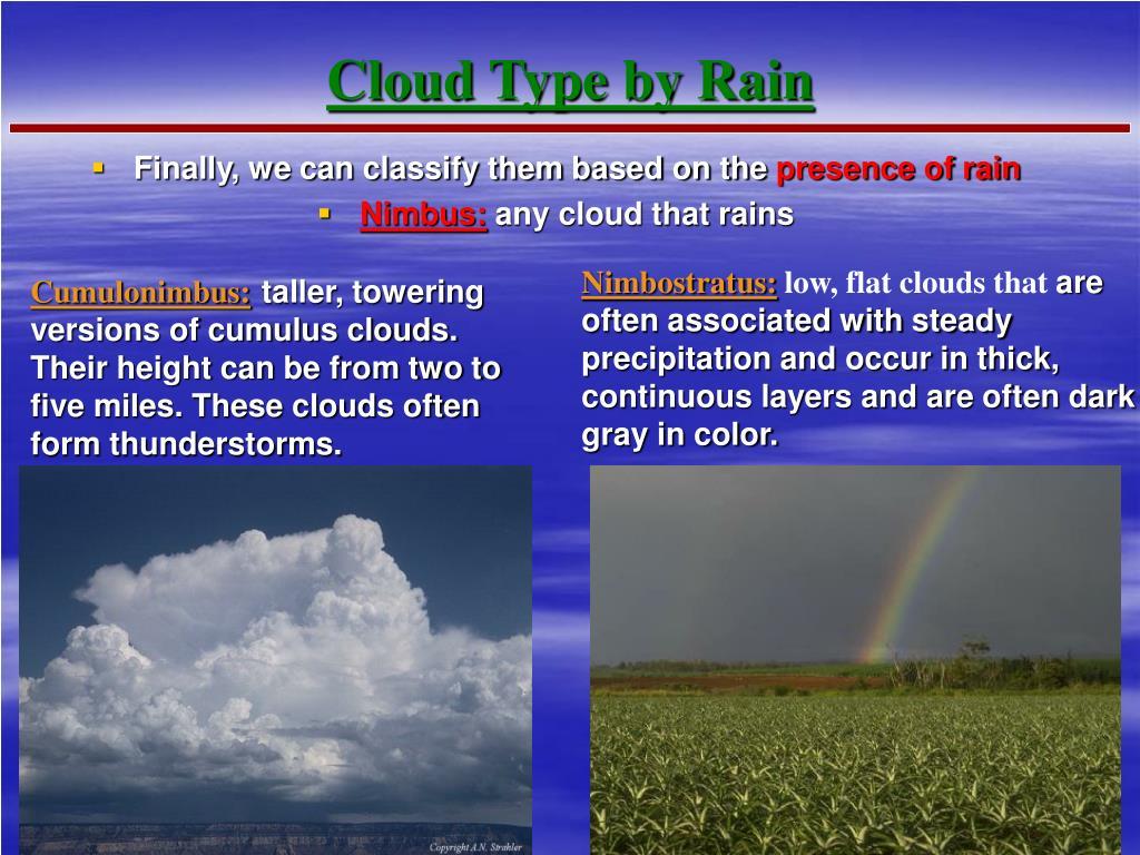 Cloud Type by Rain