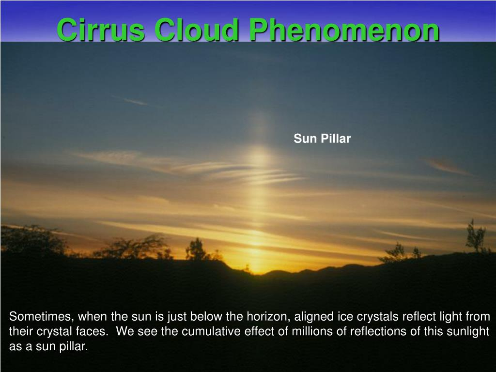 Cirrus Cloud Phenomenon