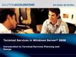 terminal services in windows server 2008