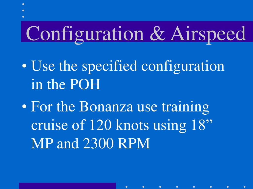 Configuration & Airspeed