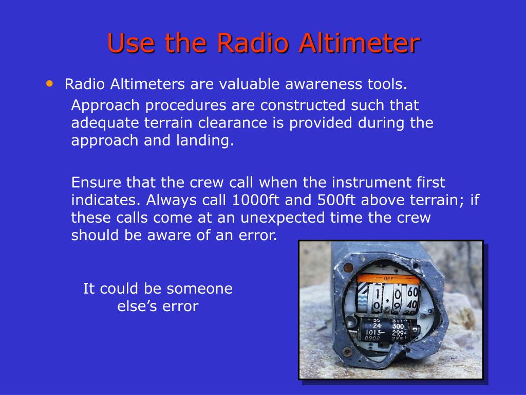 Use the Radio Altimeter