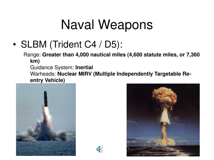 Naval weapons