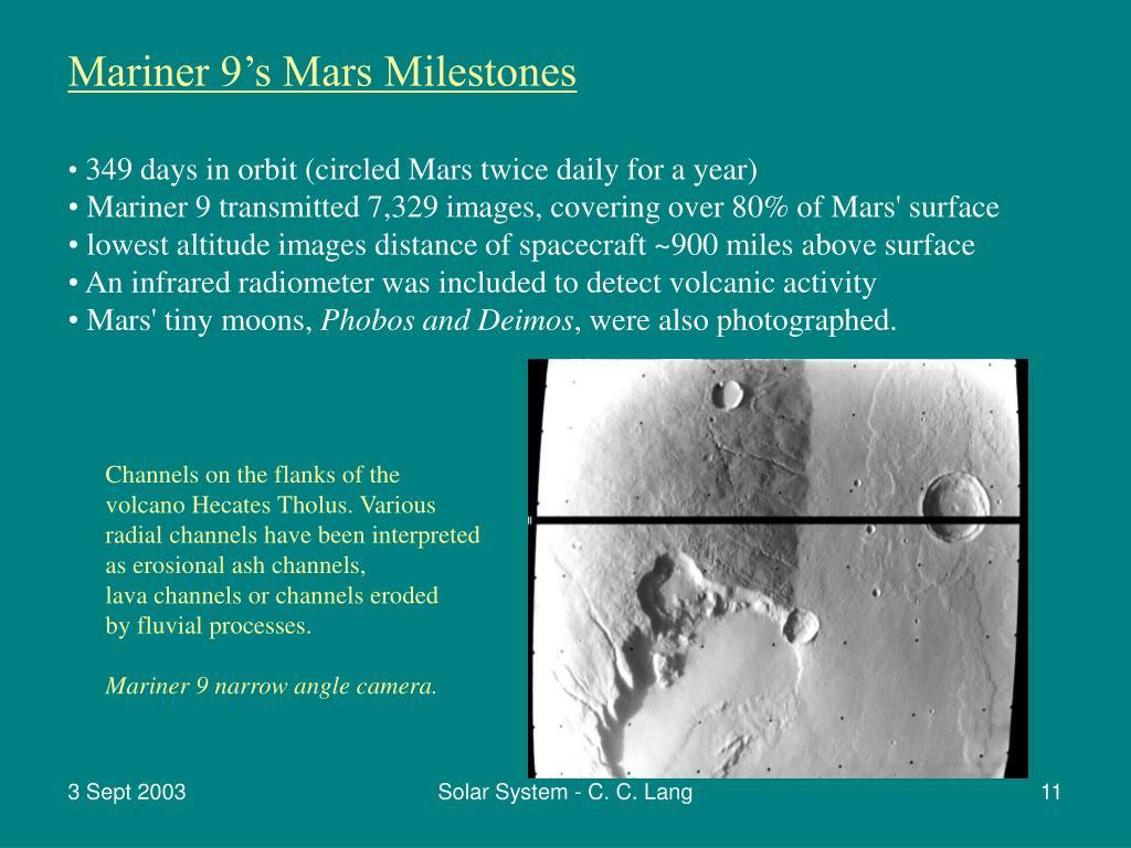 Mariner 9's Mars Milestones
