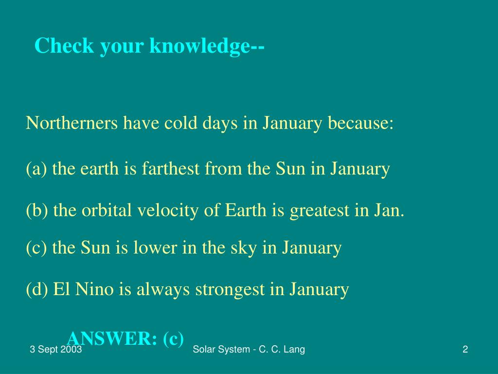 Check your knowledge--