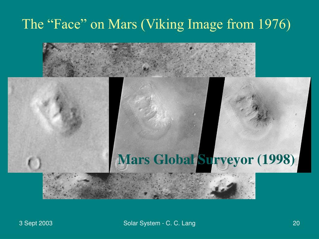 """The """"Face"""" on Mars (Viking Image from 1976)"""