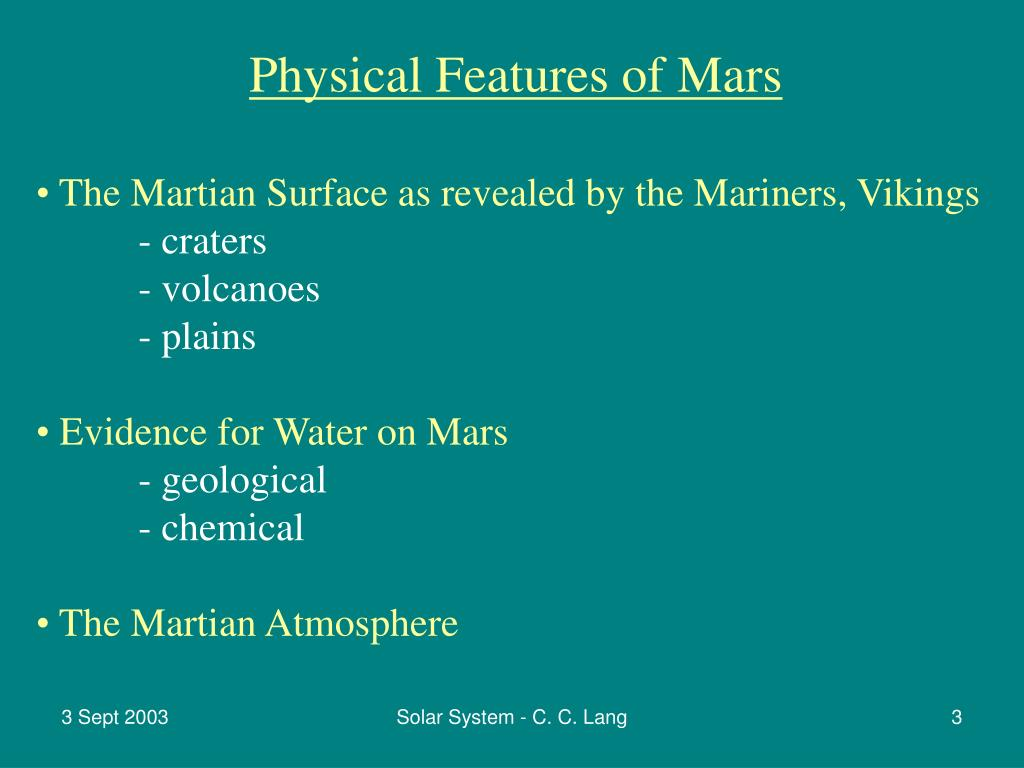 Physical Features of Mars