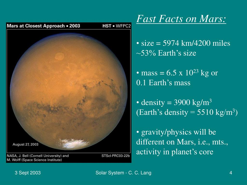 Fast Facts on Mars: