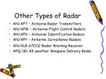 other types of radar