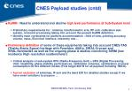 cnes payload studies cntd