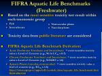 fifra aquatic life benchmarks freshwater