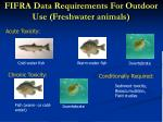 fifra data requirements for outdoor use freshwater animals