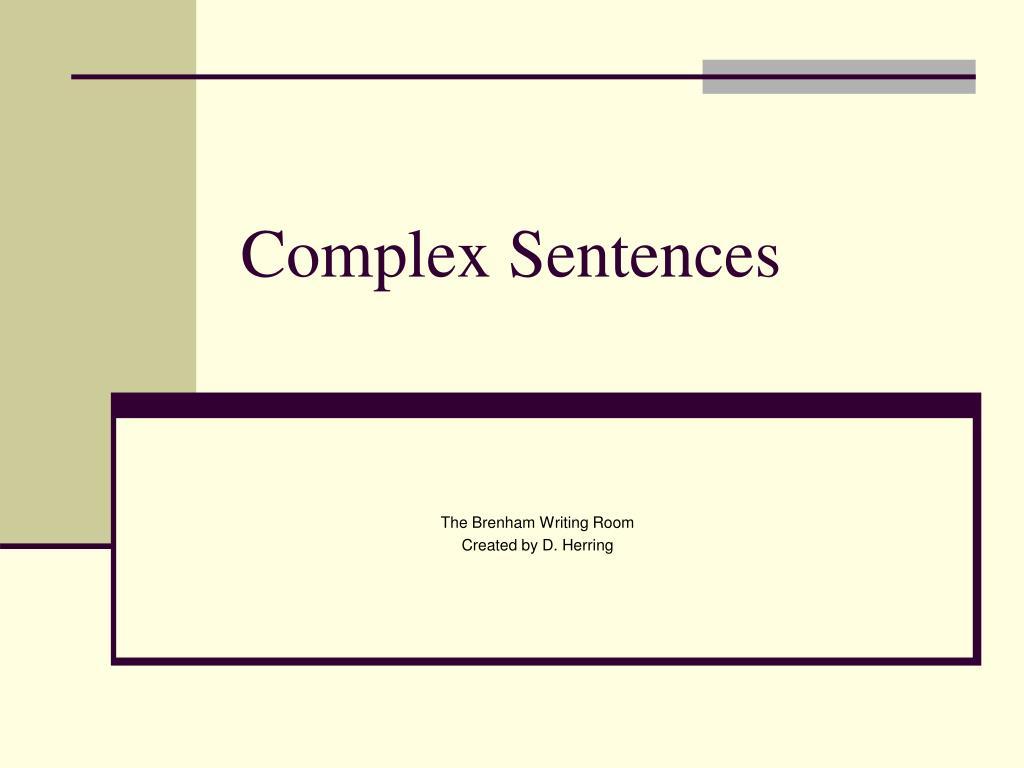 complex sentences l.