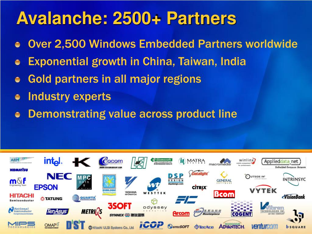 Avalanche: 2500+ Partners