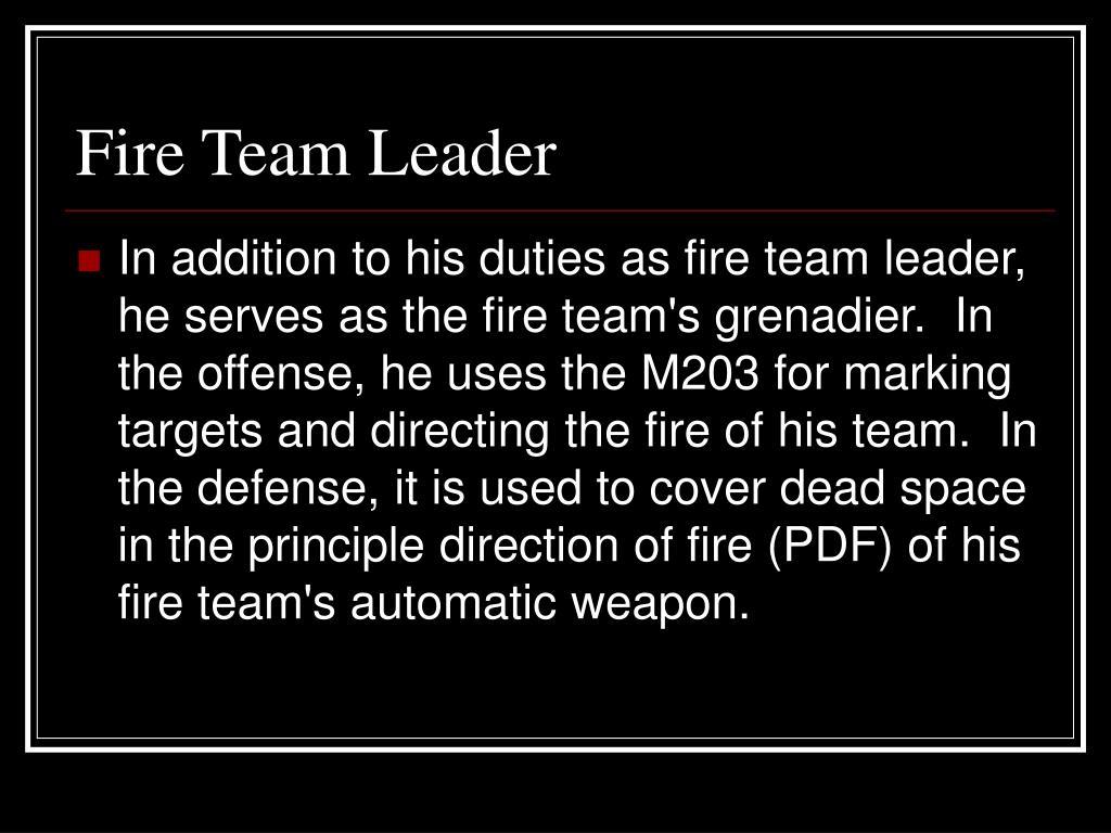 Fire Team Leader