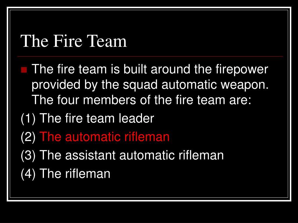 The Fire Team