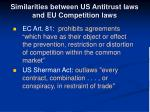 similarities between us antitrust laws and eu competition laws