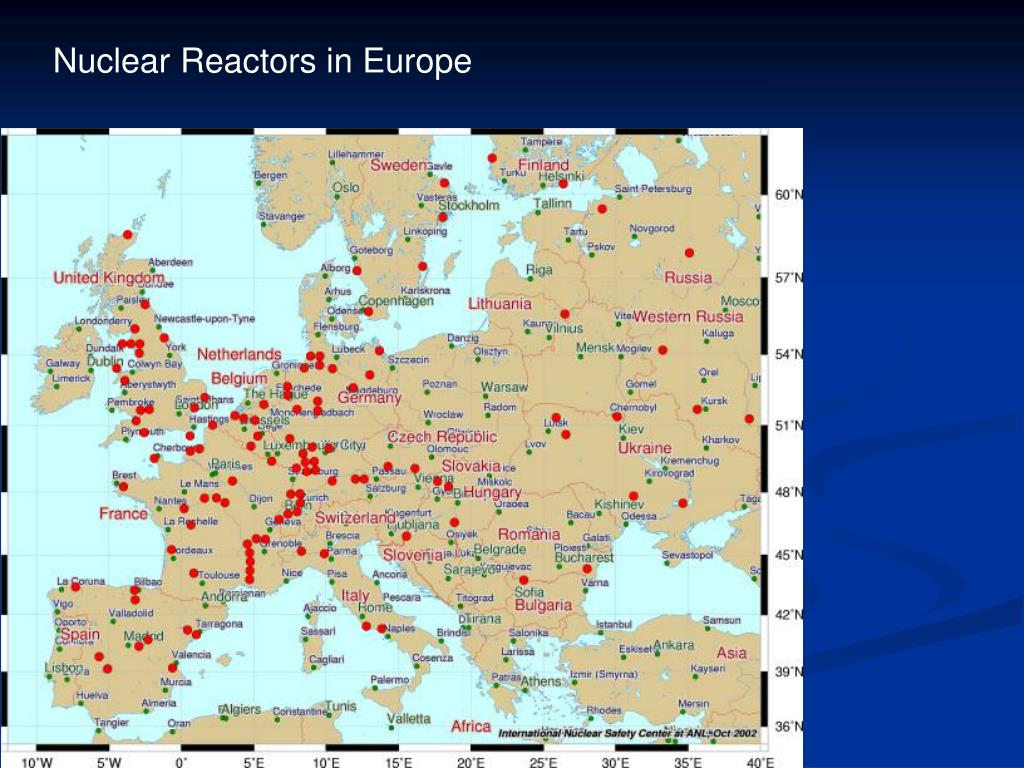 Nuclear Reactors in Europe
