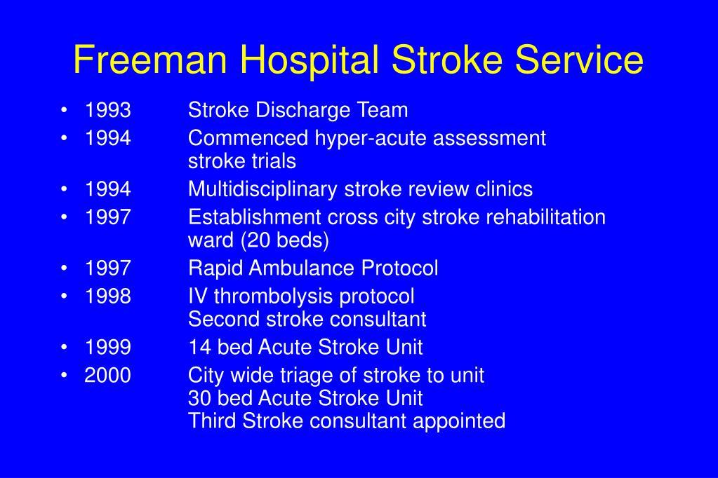 Freeman Hospital Stroke Service