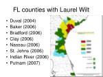 fl counties with laurel wilt