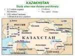 kazakhstan study sites near astana and almaty
