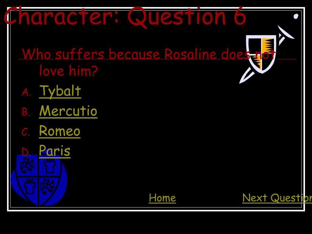 Character: Question 6