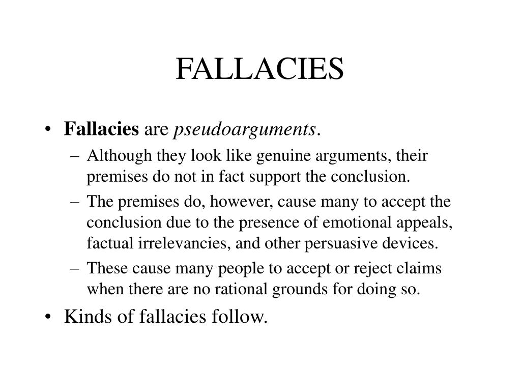 fallacies l.