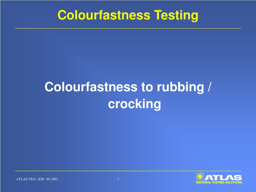 colourfastness testing l.