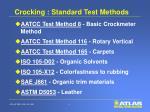 crocking standard test methods