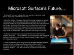 microsoft surface s future